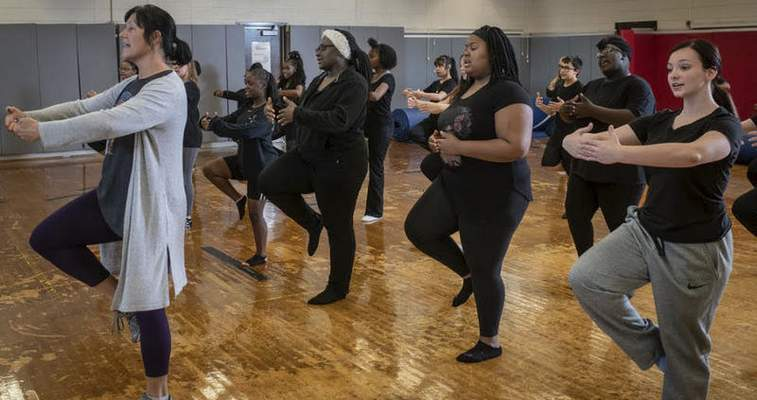Courtesy Jeffrey Crane Fort Wayne Dance Collective's Dance in Education residency program took what it had been doing in schools prior to the pandemic and has worked to provide virtual options when in-person opportunities aren't available.