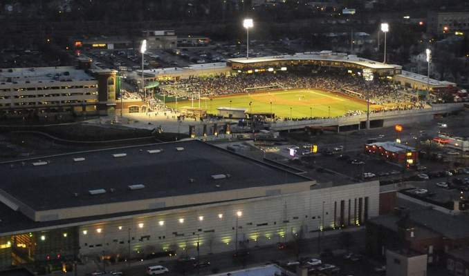 File | The Journal Gazette: Parkview Field on its opening night in Low-A baseball, April 16, 2009. The TinCaps announced Tuesday they have been offered a slot as the San Diego Padres' High-A affiliate for 2021, a classification one step closer to the major leagues.
