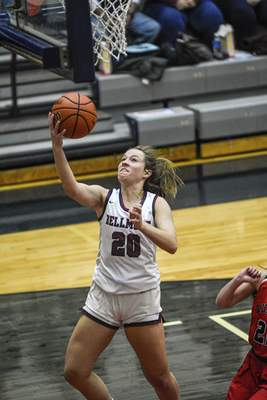 Mike Moore | The Journal Gazette  Bellmont junior Kenzie Fuelling scores a layup on Saturday in the secondquarteragainst Bluffton.