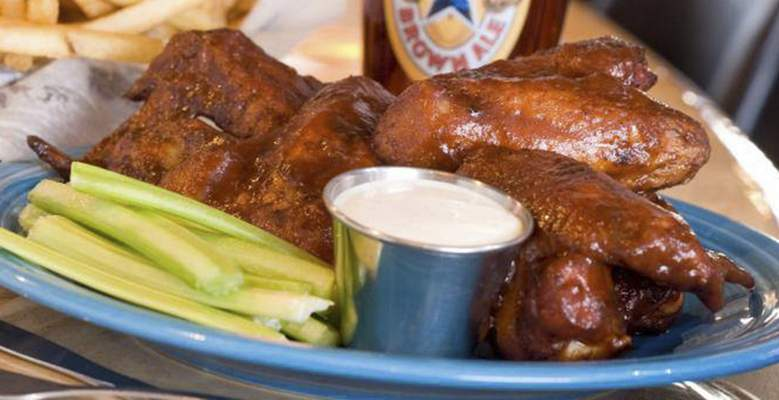 Courtesy Smoked wings from Rack & Helen's in New Haven.