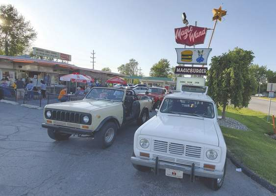 Ryan DuVall | The Journal Gazette Some International trucks converged on Magic Wand in Churubusco not long after Indiana's stay-at-home order was lifted so their owners could catch up and have a fun night out with some tasty food and ice cream.