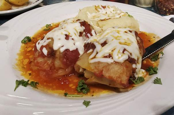 Stuffed cabbage rolls from Liberty Diner on Goshen Road.