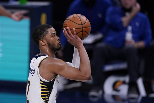 Associated Press  Cassius Stanley shoots for the Indiana Pacers on Dec. 18 in Indianapolis. As a player on a two-way contract, Stanley looks likely to be with the Mad Ants for their truncated season in Orlando.