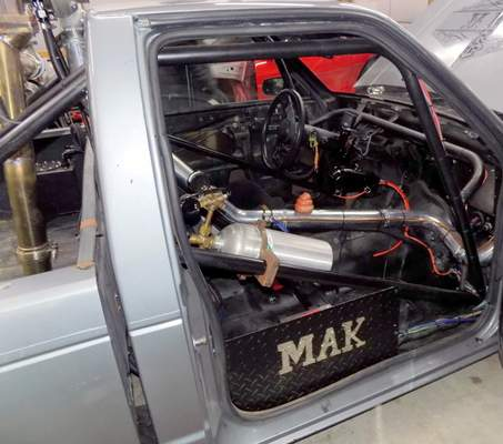A look inside the S-10 that theMid America Kustoms teamrebuilt. Members of the team said their ability to delegate duties made the rebuild, and victory, a breeze.