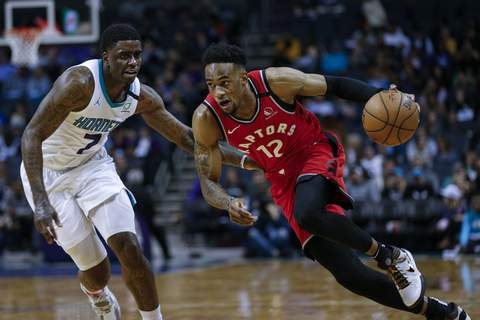 Raptors Hornets Basketball Associated Press