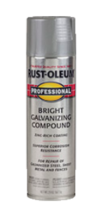 Recalled can of professional galvanizing bright compound spray.