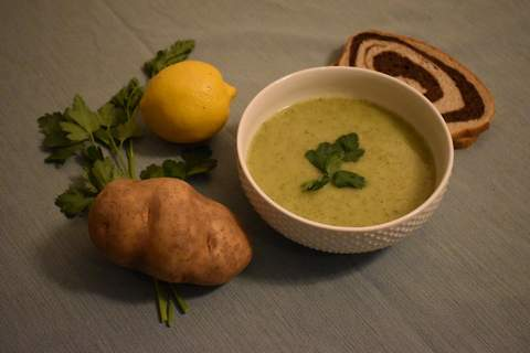 Photos by Corey McMaken | The Journal Gazette Potato Leek Soup with Lemon and Parsleyis a brighter version of the classic.