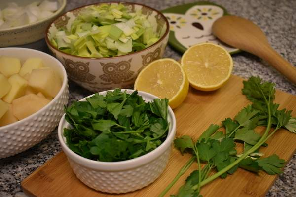 Potato Leek Soup with Lemon and Parsley comes together quickly with simple ingredients.