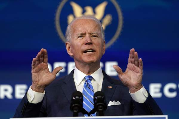 Associated Press President-elect Joe Biden speaks about the COVID-19 pandemic Thursday at The Queen theater in Wilmington, Del.