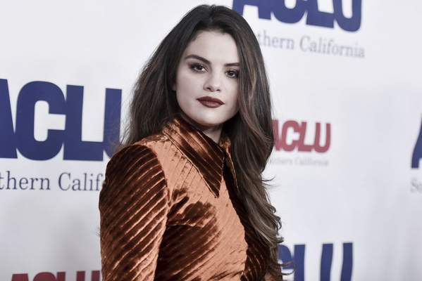 Selena Gomez attends the 2019 ACLU SoCal's Annual Bill of Rights Dinner in Beverly Hills, Calif. on Nov. 17, 2019. (Photo by Richard Shotwell/Invision/AP, File)