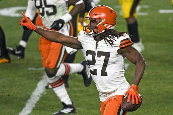 Associated Press Cleveland Browns running back Kareem Hunt is eager to face his former team, the Kansas City Chiefs, today.