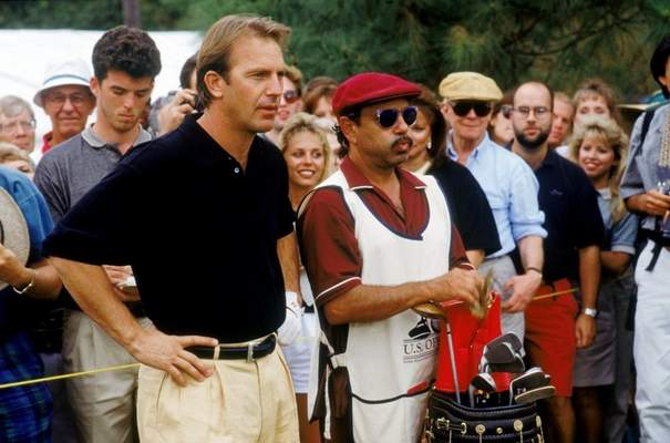 "The golf movie ""Tin Cup,"" starring Kevin Costner, left, and Cheech Marin, is one of the top sports films of all time."