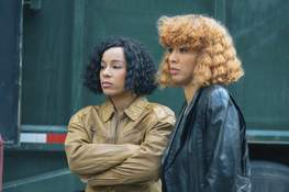"""Lifetime G.G. Townson and Laila Odom star in """"Salt-N-Pepa,"""" which airs Saturday on Lifetime."""