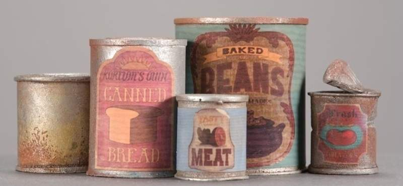 """Courtesy Laika LLC Booth created numerous miniatures for """"Missing Link,"""" including food tins."""