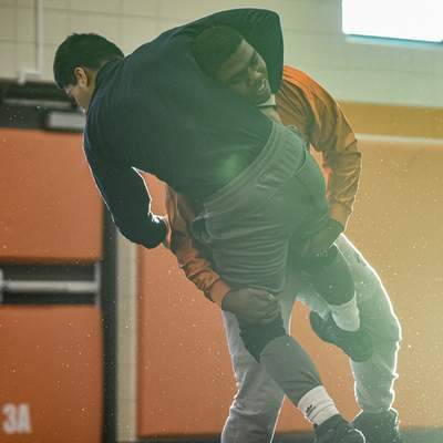 Hinton, right, and  Mudrack  practice Thursday at Northrop High School.