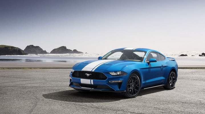 Courtesy Ford: The 2020 Ford Mustang EcoBoost is designed with 18-inch wheels, fastback roofline and triple sequencing taillamps, reviewer Casey Williams says. He says full-length racing stripes and a subtle rear spoiler are perfect touches.