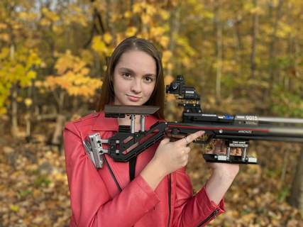 Courtesy Carroll sophomore Bremen Butler recently won a national championship for her age division shooting in the Olympic-style precision competitive rifle during the Winter Air Gun Championships in December.