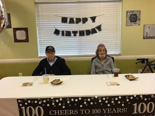 Courtesy Bob and Jody Schowe each celebrated their 100th birthday in September and then their 20th anniversary in October.