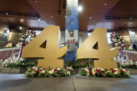 Hank Aaron Memorial Baseball Associated Press A memorial service was held Tuesday for MLB Hall of Famer Hank Aaron at Truist Park in Atlanta. He died of natural causes last week at 86. (Kevin D. LilesPOOL)