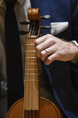 It costs about $5,000 to build the viol and takes about three months to finish. By this summer, John Romey hopes to have two playable instruments.