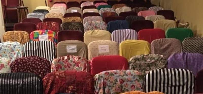 Courtesy  Pulse Opera House in Warrenhad a Fill The Seats fundraiser in which donors could have their names added to slipcovers on the theater's chairs that were made from leftover costume fabric.