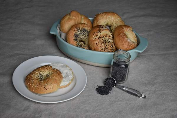 Photos by Corey McMaken   The Journal Gazette Bagels can be made at home without much trouble.