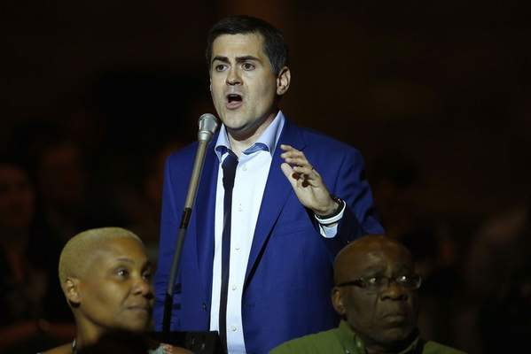 FILE - In this Wednesday, June 14, 2017 file photo, Russell Moore, president of the Ethics & Religious Liberty Commission, speaks at the Southern Baptist Convention annual meeting in Phoenix. On the agenda of the SBC's meeting in late February 2021 is report by an executive committee task force criticizing the widely respected leader of the SBC's public policy arm. Among the grievances against Moore: His outspoken criticism of Donald Trump during Trump's 2016 election campaign and his presidency. (AP Photo/Ross D. Franklin)