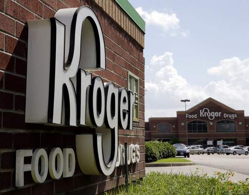 FILE - This June 17, 2014, file photo, shows a Kroger store in Houston. Kroger Co. says it was among the multiple victims of a data breach involving a third-party vendor's file-transfer service and is notifying potentially impacted customers, offering them free credit monitoring. (AP Photo/David J. Phillip, File)