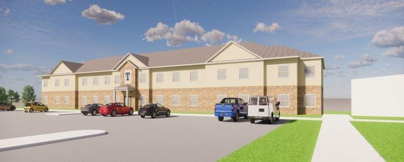 This is a rendering of Fabiani Hall, a residence facility scheduled to open at Trine University in the fall.