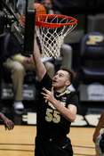 Penn St Purdue Basketball Associated Press Sasha Stefanovic, scoring in Purdue's win over Penn State in January, was 4 of 8 from 3-point range against Nebraska on Saturday.  (Michael ConroySTF)
