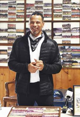 Katie Fyfe | The Journal Gazette  Rod Woodson talks about his football camp he will be holding here in Fort Wayne this July at Police Athletic League Inc on Thursday.