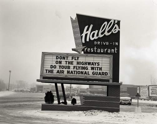Michael Vorndran has volunteered from home to scan picture negatives of his former military unit of the 122nd Fighter Wing and other historical photos for the Genealogy Center in the Allen County Public Library. This photo of Hall's Original Drive-in on Bluffton Road is his favorite.