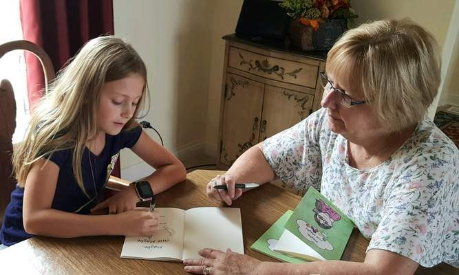 """Mary Ann Koontz and her granddaughter Hailey Landreth spent time during the pandemic writing a book. The book, """"Maybe Just Maybe,"""" is available on Amazon."""