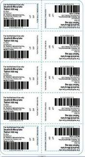 Recalled Dr. Reddy's Imatinib Mesylate Tablets 100 mg.