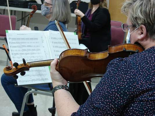 The orchestra hopes to play for friends and family once the 10-week session is complete.