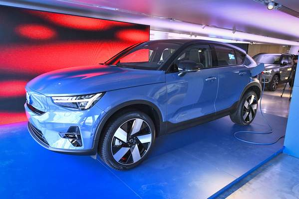 Associated Press Volvo unveiled its new electric car model, Volvo C40 Recharge, during Tuesday's virtual event in Stockholm, Sweden.