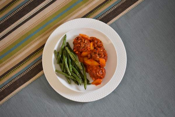 Photos by Corey McMaken | The Journal Gazette Porcupine Meatball Unstuffed Peppers with a side of Roasted Green Beans