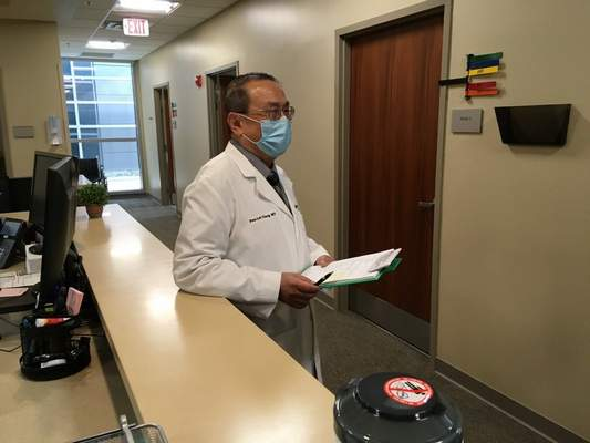 Rosa Salter Rodriguez   The Journal Gazette Parkview neurologist Dr. Fen-Lei Changspeaks Thursday about the newly created post-COVID clinic.