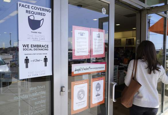 Associated Press Although nearly a fifth of U.S. states don't require people to wear masks to protect against COVID-19, some businesses are requiring employees and customers to be masked on their premises.