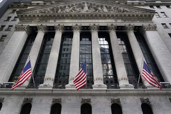 FILE - In this Nov. 23, 2020 file photo, the New York Stock Exchange is seen in New York. (AP Photo/Seth Wenig, File)