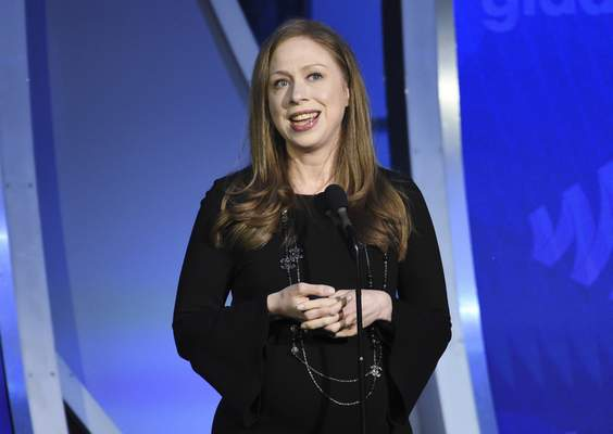 FILE - Chelsea Clinton speaks at the 30th annual GLAAD Media Awards in New York on May 4, 2019. (Photo by Evan Agostini/Invision/AP, File)