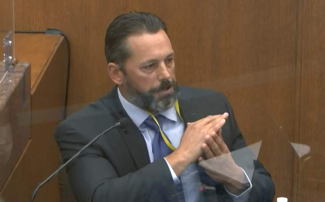 Associated Press Minneapolis Police Lt. Johnny Mercil, a use-of-force trainer, testifies Tuesday in the trial of former Officer Derek Chauvin.