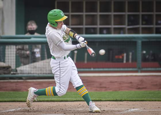 Mike Moore | The Journal Gazette Eastside utility player Colben Steury at bat in the second inning against DeKalb at Parkview Field on Wednesday.