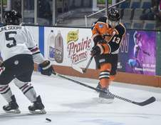 Mike Moore | The Journal Gazette Forward Anthony Petruzzelli has helped the Komets climb into second place in the Western Conference thus far.