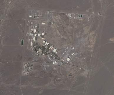 Iran Nuclear This satellite photo provided from Planet Labs Inc. shows Iran's Natanz nuclear facility on Wednesday, April 14, 2021. Iran began enriching uranium Friday, April 16, 2021, to its highest level ever at Natanz, edging closer to weapons-grade levels to pressure talks in Vienna aimed at restoring its nuclear deal with world powers after an attack on the site. (Planet Labs via AP) (HONS)