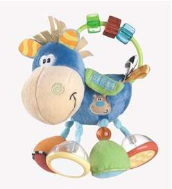 Recalled Playgro Clip Clop infant activity rattle.