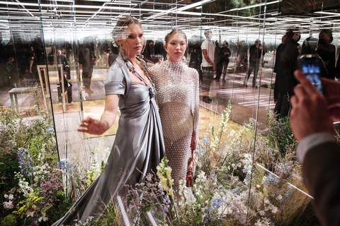 France Fashion's Future FILE - In this Jan. 27, 2021 file photo, model Kate Moss, left, and her daughter Lila Grace Moss wear a creation for Fendi's Spring-Summer 2021 Haute Couture fashion collection presented in Paris. (AP Photo/Francois Mori, File) (Francois Mori STF)