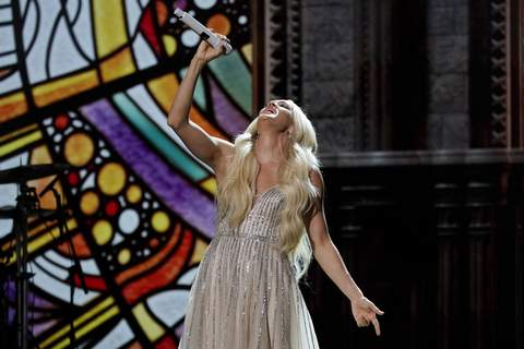 2021 Academy of Country Music Awards Associated Press Carrie Underwood performs at the 56th annual Academy of Country Music Awards at the Grand Ole Opry in Nashville. (Mark HumphreySTF)