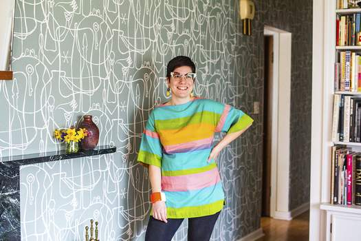 Katie Fyfe | The Journal Gazette Hannah Michel sells vintage clothes and decor through her business, Spry Fashion.