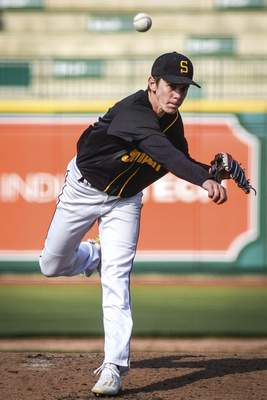 Mike Moore | The Journal Gazette Snider pitcher Grady Tarney pitches in the fourth inning against Norwell at Parkview Field on Thursday.